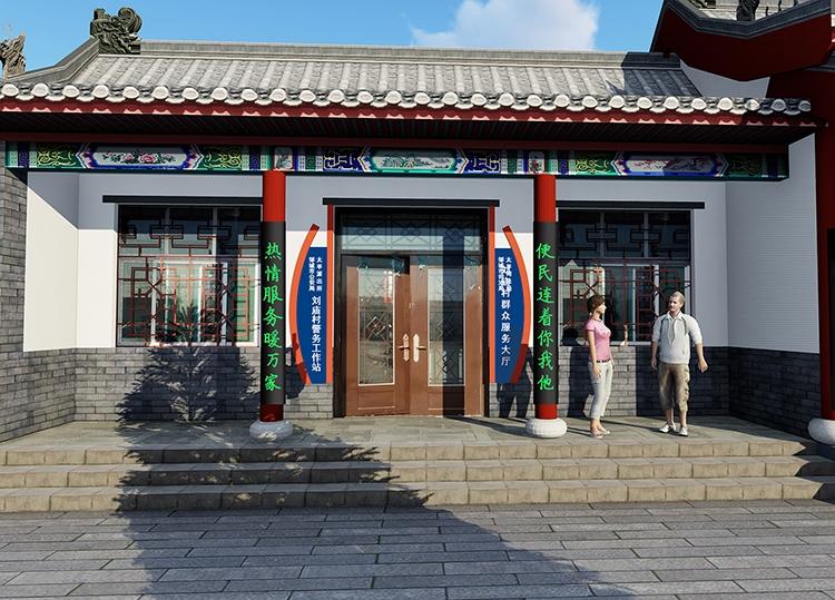 太平镇刘庙村祠堂外观设计